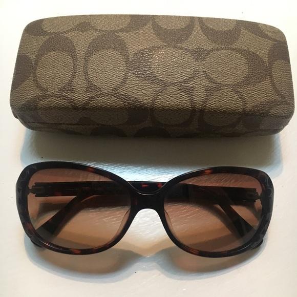 4bf7e8233 Coach Accessories | Tortoise C Logo Sunglasses | Poshmark